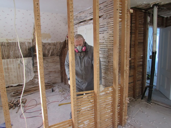 Removing the lath